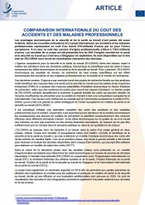 An international comparison of the cost of work-related accidents and illnesses, Translation from English into French