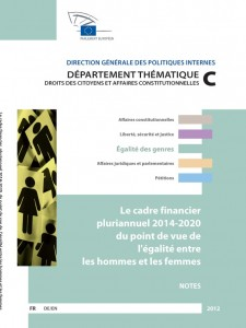 The multi-annual financial framework 2014-2020 from a gender equality perspective, Translation from English into French