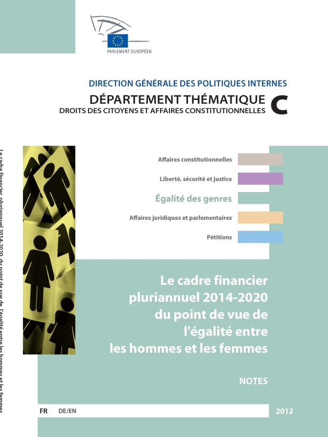 The multi-annual financial framework 2014-2020 from a gender equality perspective